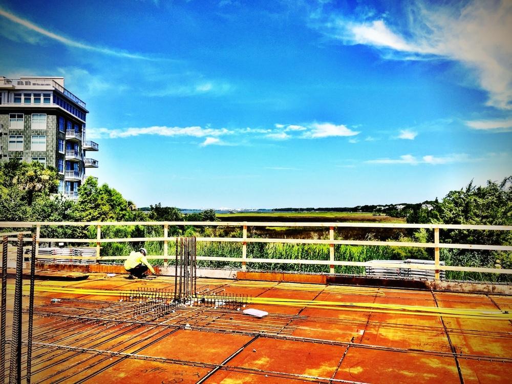 Tides IV Condominium - Construction pic of 1st floor formwork.