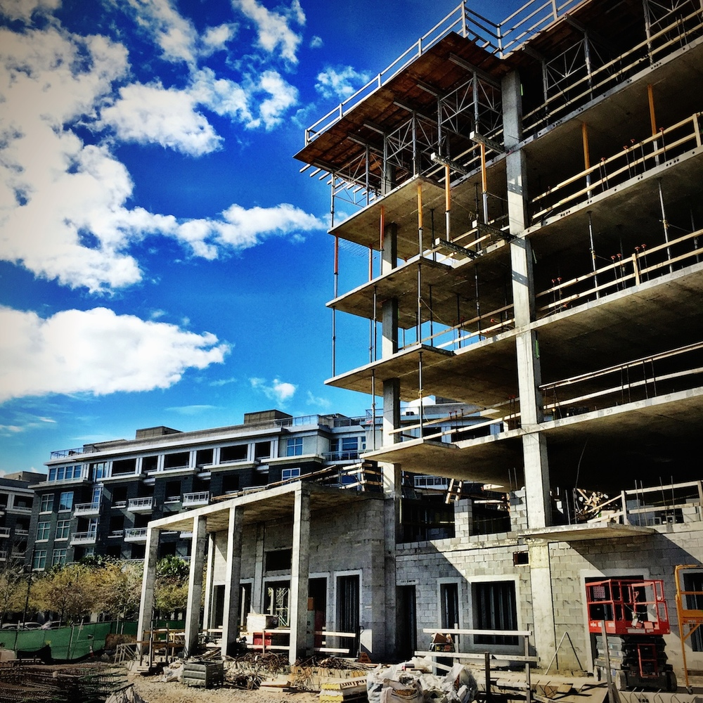 Tides IV Condominium Under Construction - View of the lobby.