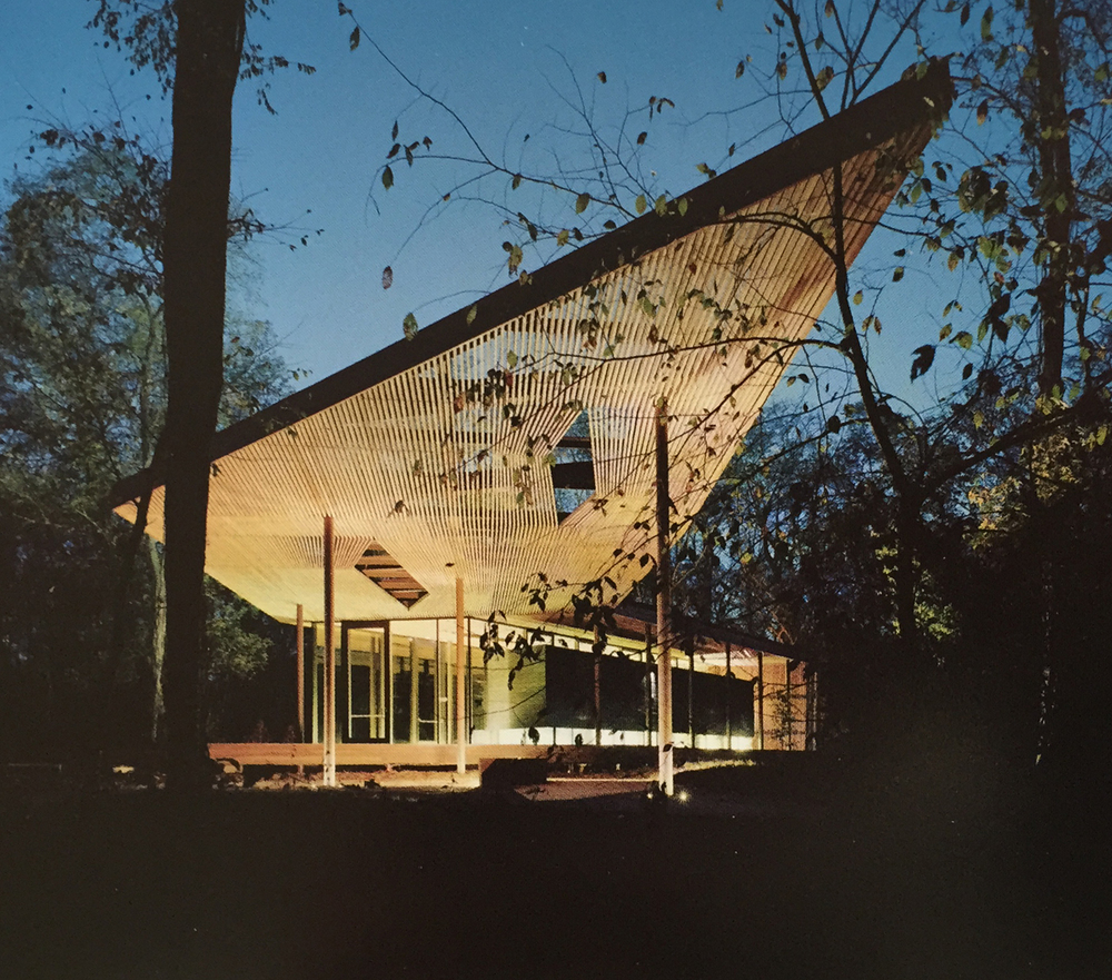 Marlon Blackwell.  Ruth Lily Visitor's Pavilion.  Indianapolis, IN, 2010