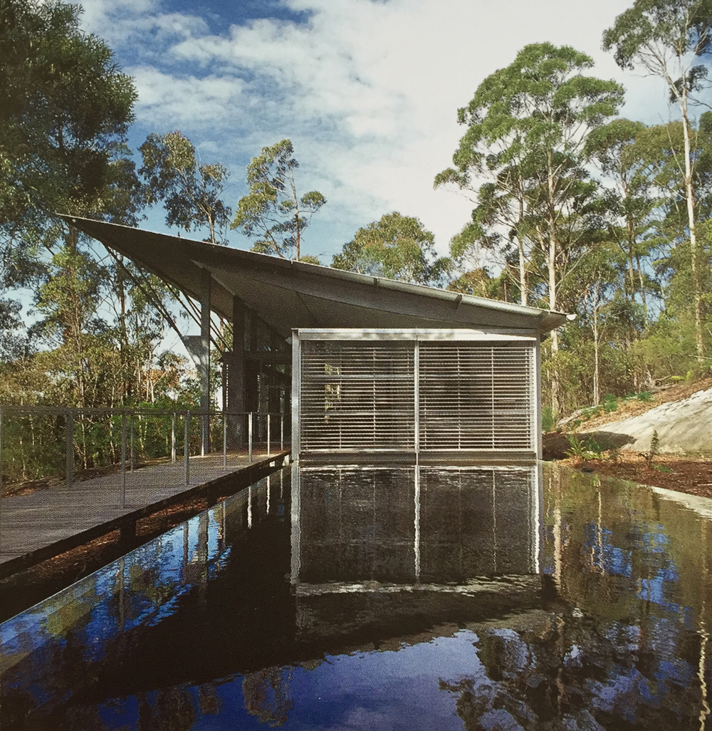 Glenn Murcutt.  Arthur and Yvonne Boyd Education Centre, Riversdale, New South Wales, 1996-99