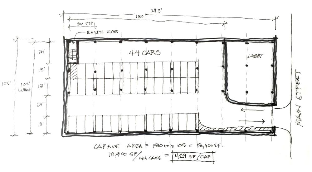 parking garage schematic design