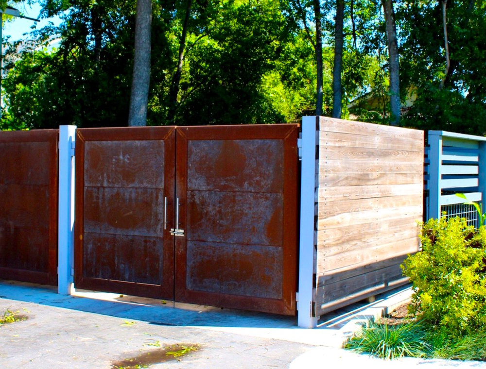 The 'damn fine' dumpster enclosure.