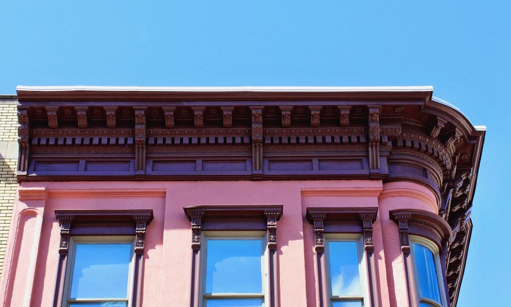 273 King Street - This cornice is bad-ass.  A monster overhang, curved corner, elaborate detail.  Beautiful.