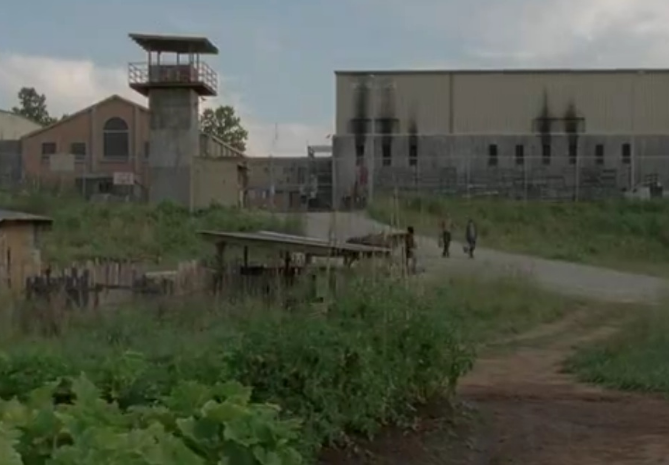 The Prison from The Walking Dead.  Photo Credit:  The Walking Dead Wiki