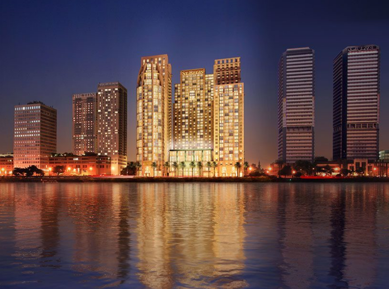 A rendering of the St. Regis Hotel and Condos in Cairo, Egypt.  I worked on this project for a majority of my time at Michael Graves & Associates.  This was my first taste of hotel design.  Rendering courtesy of Michael Graves & Associates.