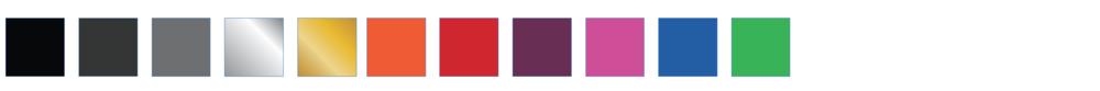 Anodising colours (matte finish)