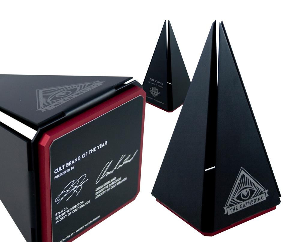 custom pyramid trophy award unique modern design