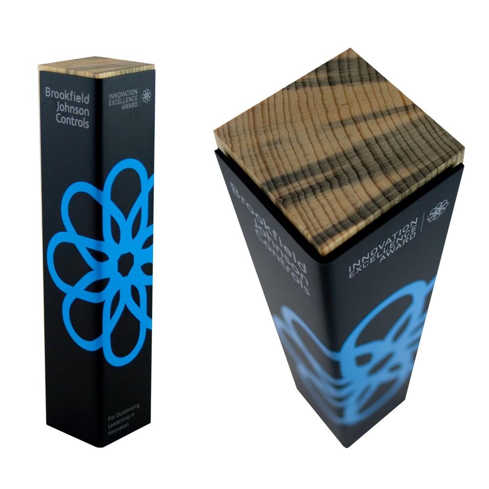 eco wrap custom award trophy green