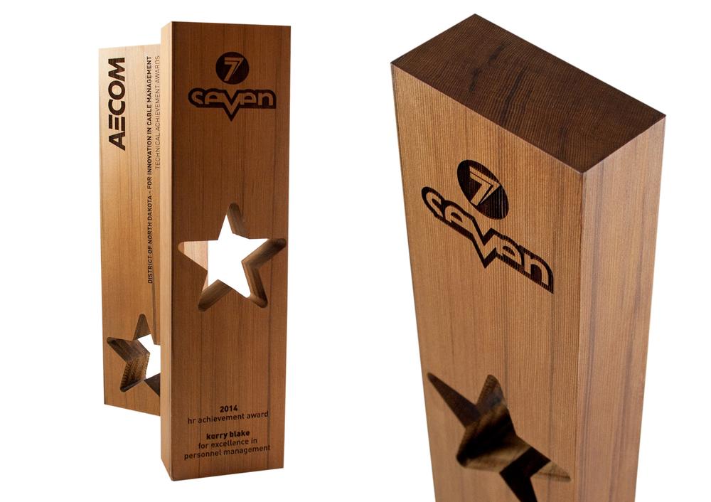 eco-friendly seven custom star award design