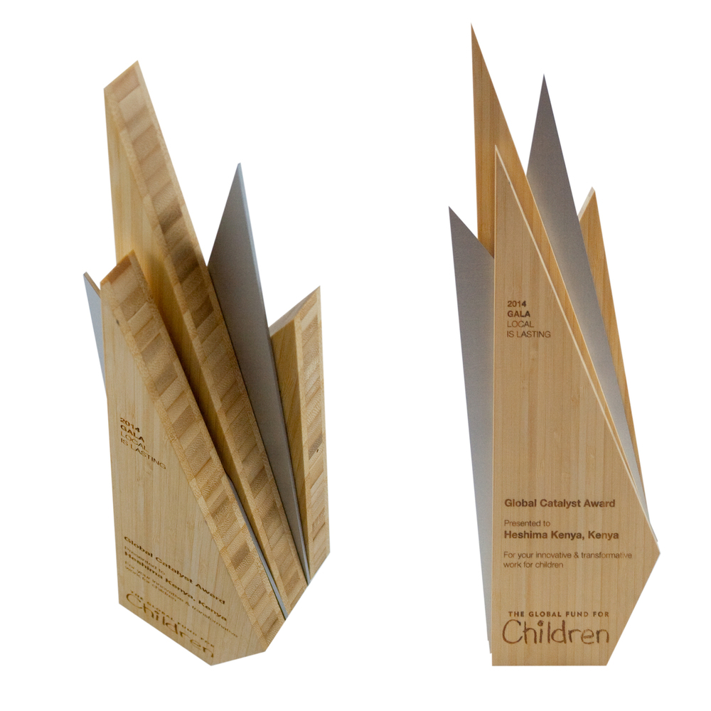 progressive eco/sustainable custom award design