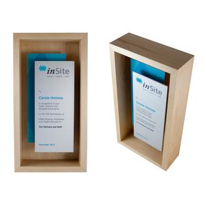 eco-friendly custom shadow box award design