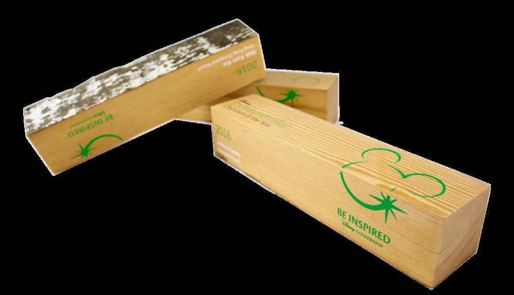 disney custom eco friendly recovered wood custom awards