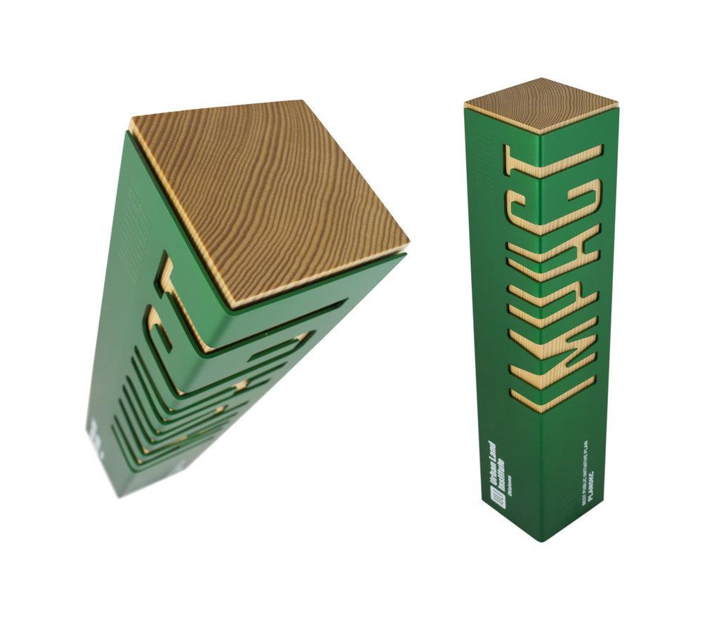 urban land institute reclaimed douglas fir award recycled aluminum custom design USA Canada