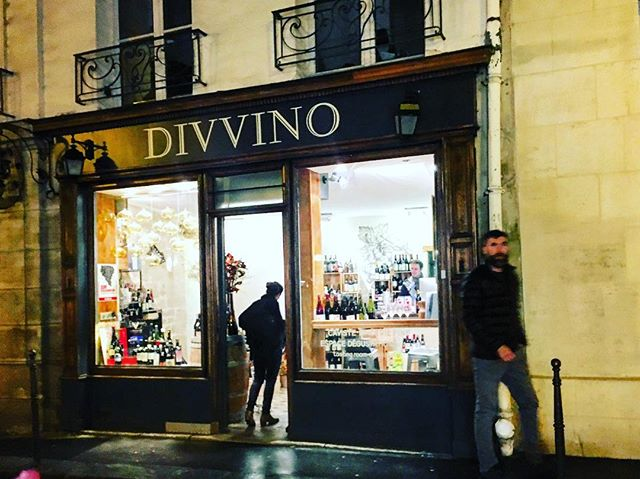 Wine shops on every corner here, still open at 10 pm on the slowest night of the week. #paris #wineshop #lemarais #wine #frenchwine
