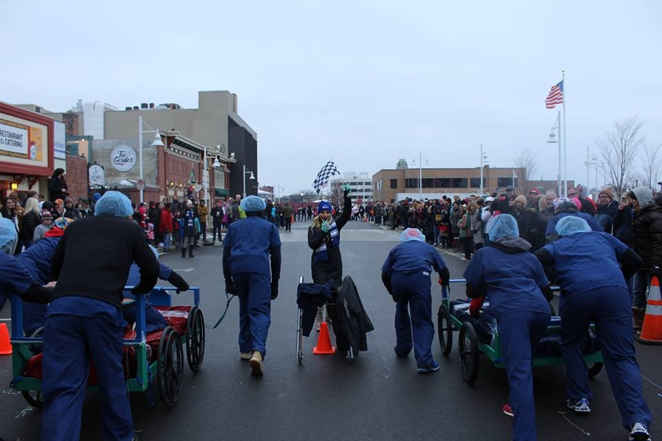 Copy of Bed races starting line