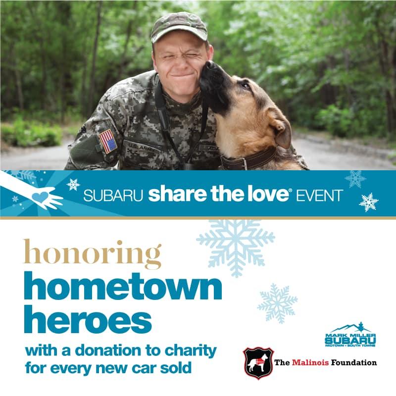 Share The Love Saturday Mark Miller Subaru South Towne The Malinois Foundation