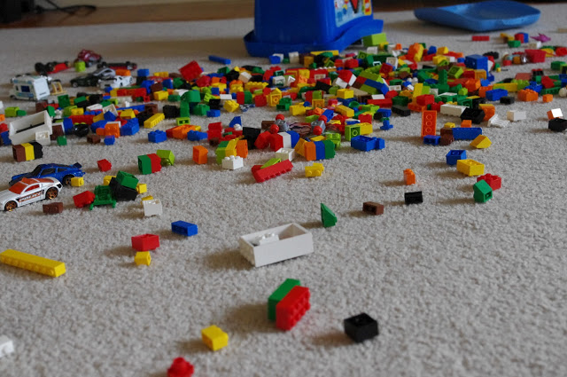 Climate change is mess -- an idea quite familiar to children. Simply stopping making a mess worse isn't acceptable, we also have to clean up the mess that we've made. Photo credit: http://joyjustbecause.blogspot.com/2011/03/lego-mess.html