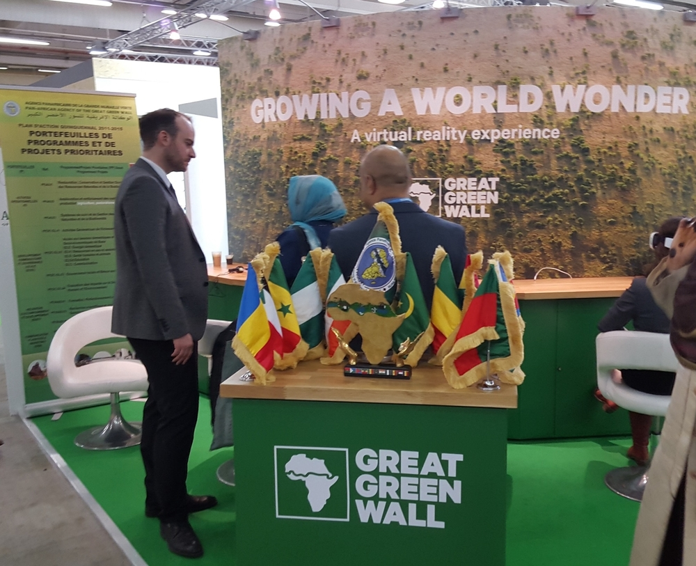 The Great Green Wall project had a virtual reality exhibit to see what the afforestation project in Africa would do for local communities.