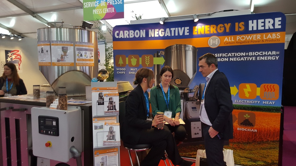 "AllPowerLabs Bio-CCS display is one of the few exceptions to the ""No-CCS"" rule at COP21"