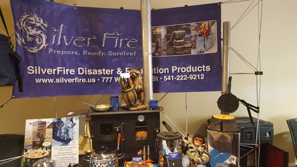 Lots of niche business models are being explored by biochar producers, including SilverFire's disaster-preparedness kit on display at the conference.