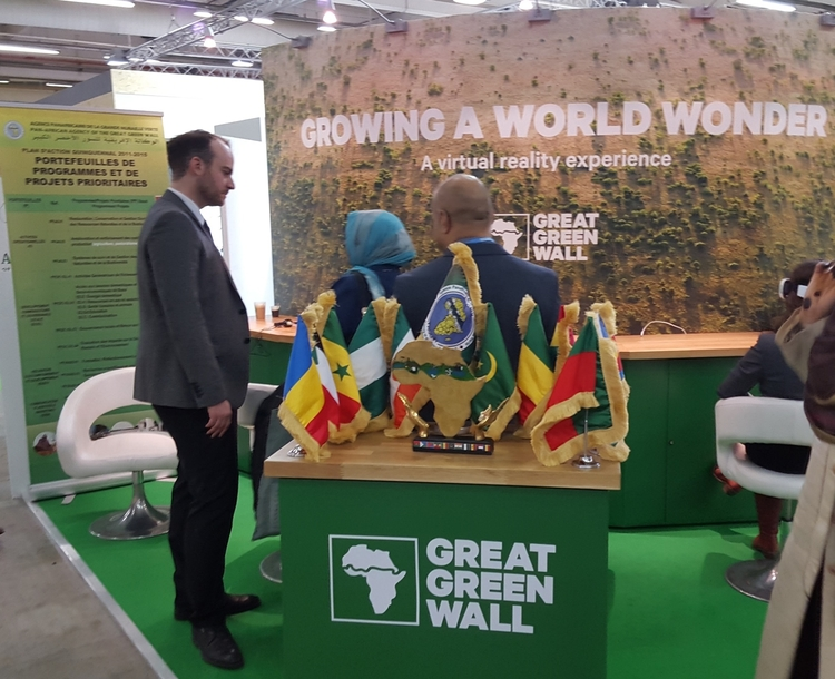Great Green Wall booth at COP 21