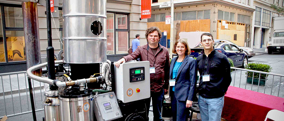 All Power Labs with their biomass gasifier at VERGE 2013 in San Francisco.