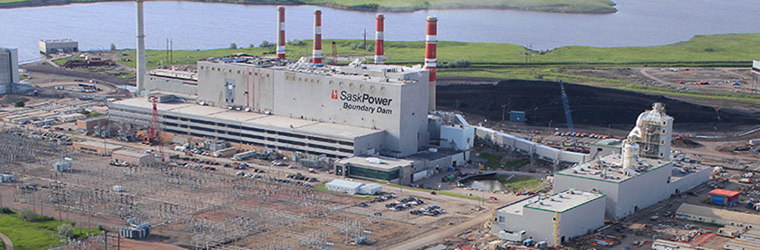 Above: The traditional image of CCS: post-combustion CO2 capture at a coal power plant for underground storage at SaskPower's Boundary Dam facility in Canada.