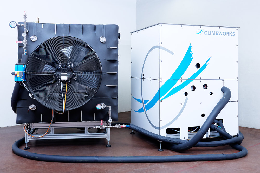 Above: Climeworks direct air capture machine, one of many different carbon removal solutions being developed by innovators today. (Source: Climeworks)