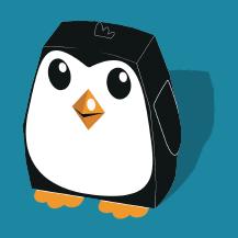 Free 3D cut'n'fold paper penguin