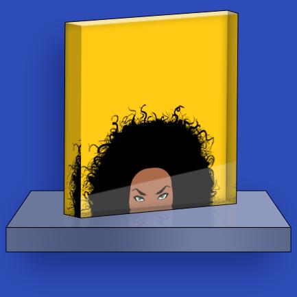 Acrylic block -4×4″, 6×6″