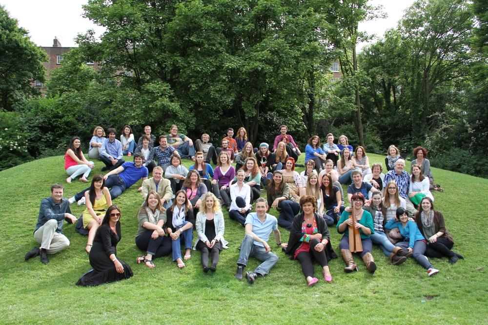 Participants and Facilitators at the 2013 Anúna International Summer School