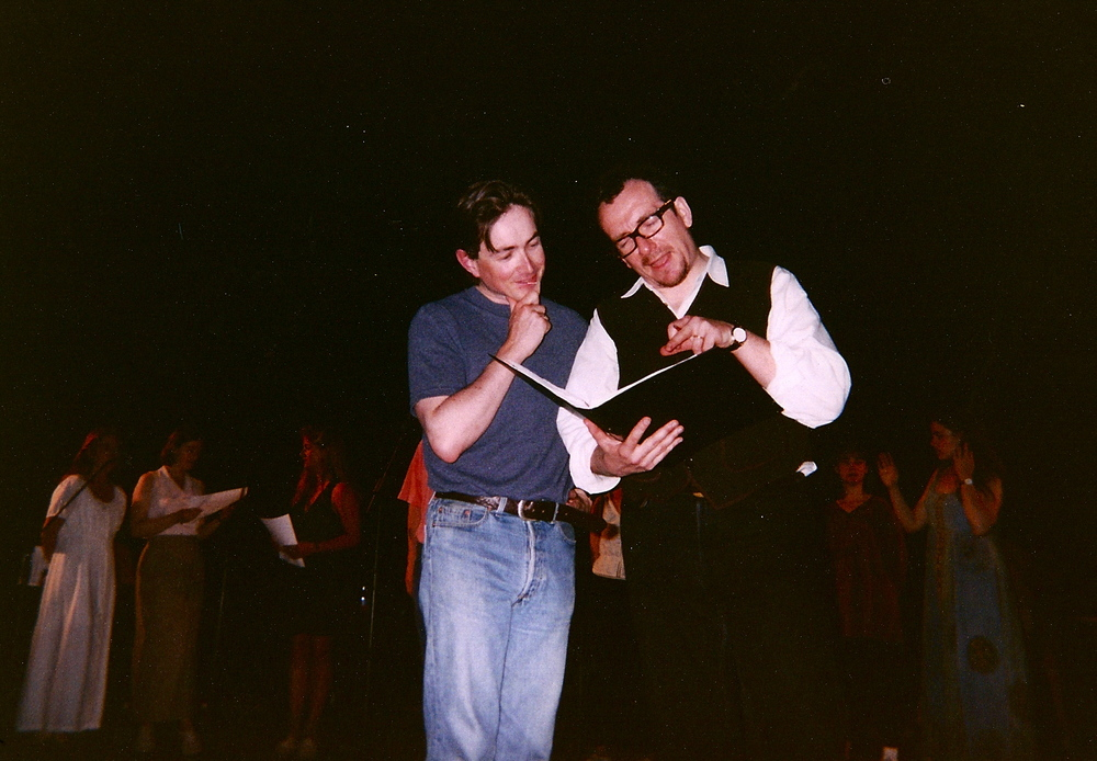 Michael with Elvis Costello at Meltdown 1995