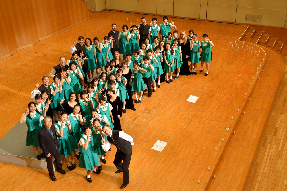 With Hamamatsu Junior Choir, Japan, December 2014