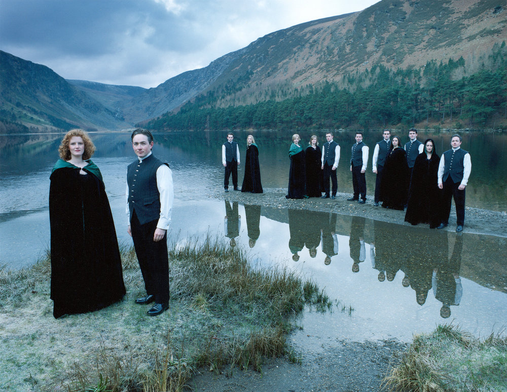 Anúna in Glendalough, January 1999. Image Julia Hember