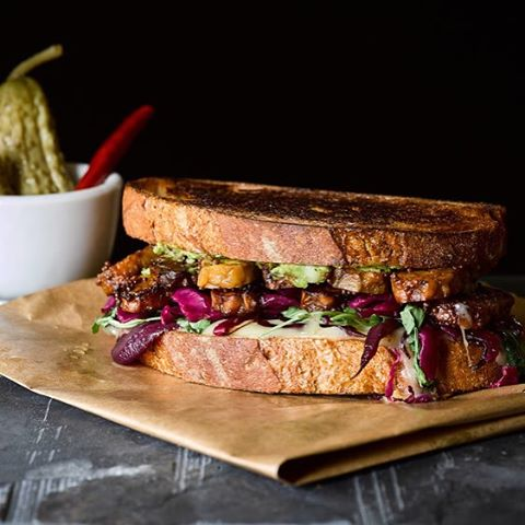 The Ultimate Tempeh Rueben! New on the blog - check it out (link in profile) #sandwich #vegetarianrecipes #foodporn #tempeh #goodfood #recipe #grilledsandwich #delicious #eatgoodfood #getinthekitchen