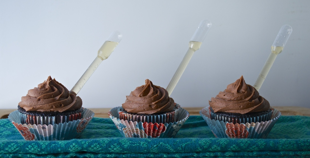 Chocolate Nutella Cupcakes with a Shot of Frangelico | Pale Yellow