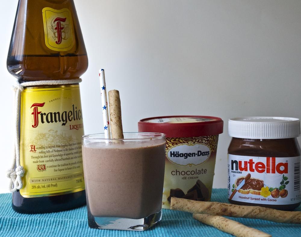 Boozy Nutella Milkshake | Pale Yellow