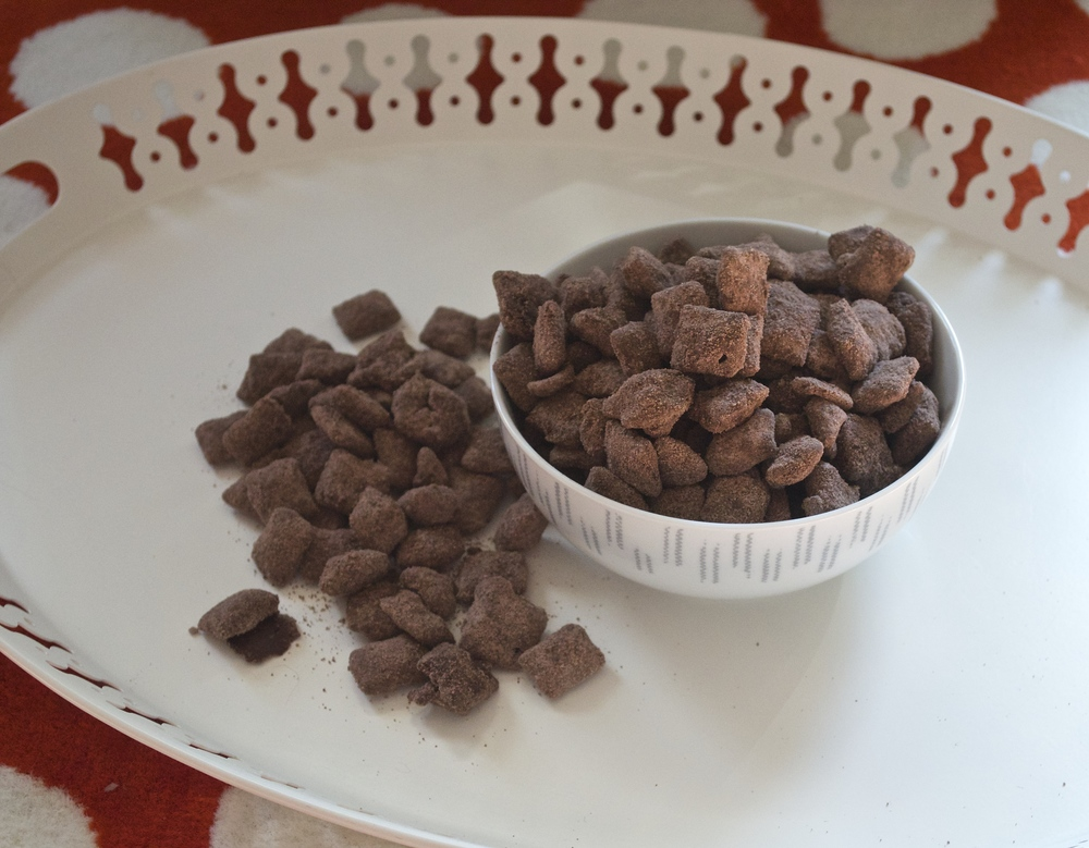 Brownie Batter Puppy Chow | Pale Yellow