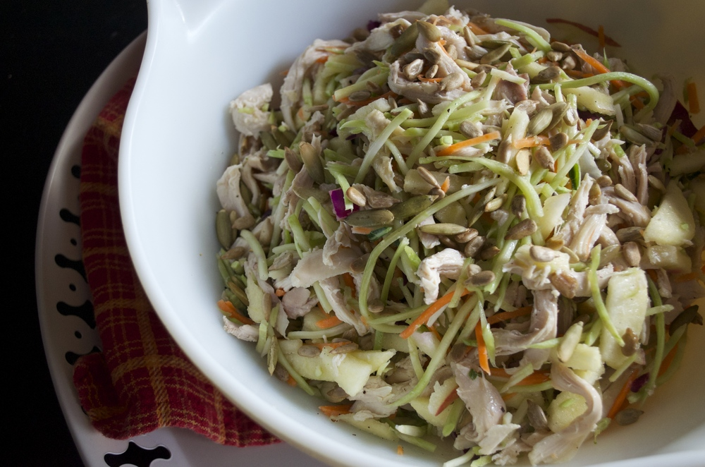 Chicken and Broccoli Slaw Salad | Pale Yellow