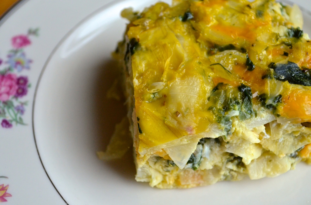 Spinach Artichoke Squares | Pale Yellow