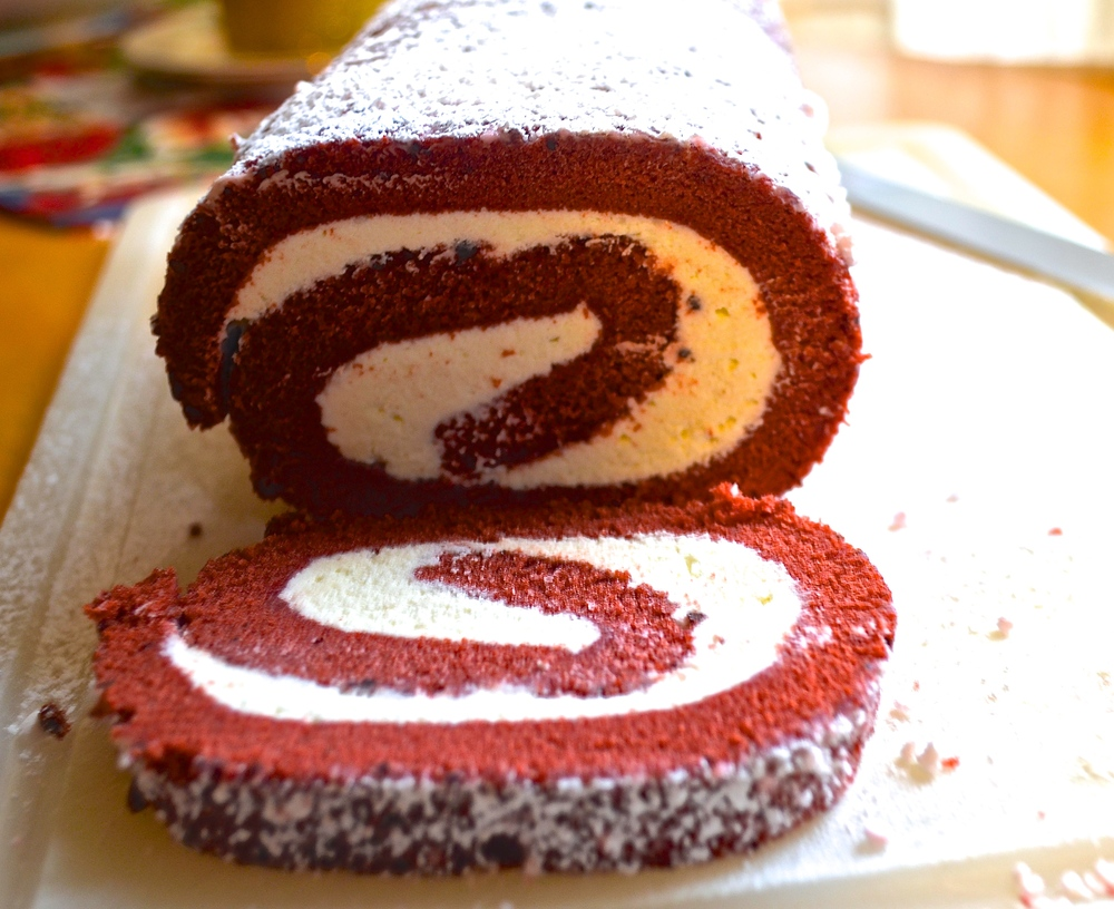 Red Velvet Cake Roll | Pale Yellow