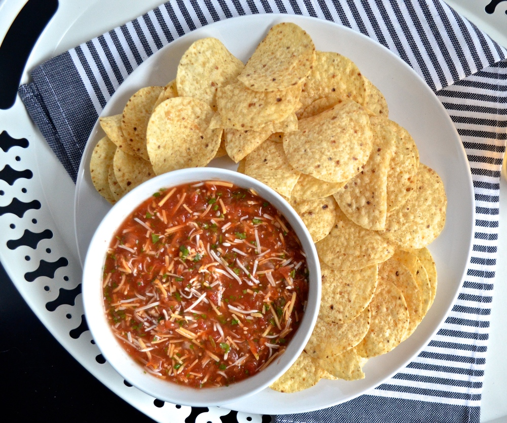Easy Salsa and Cheese | Pale Yellow