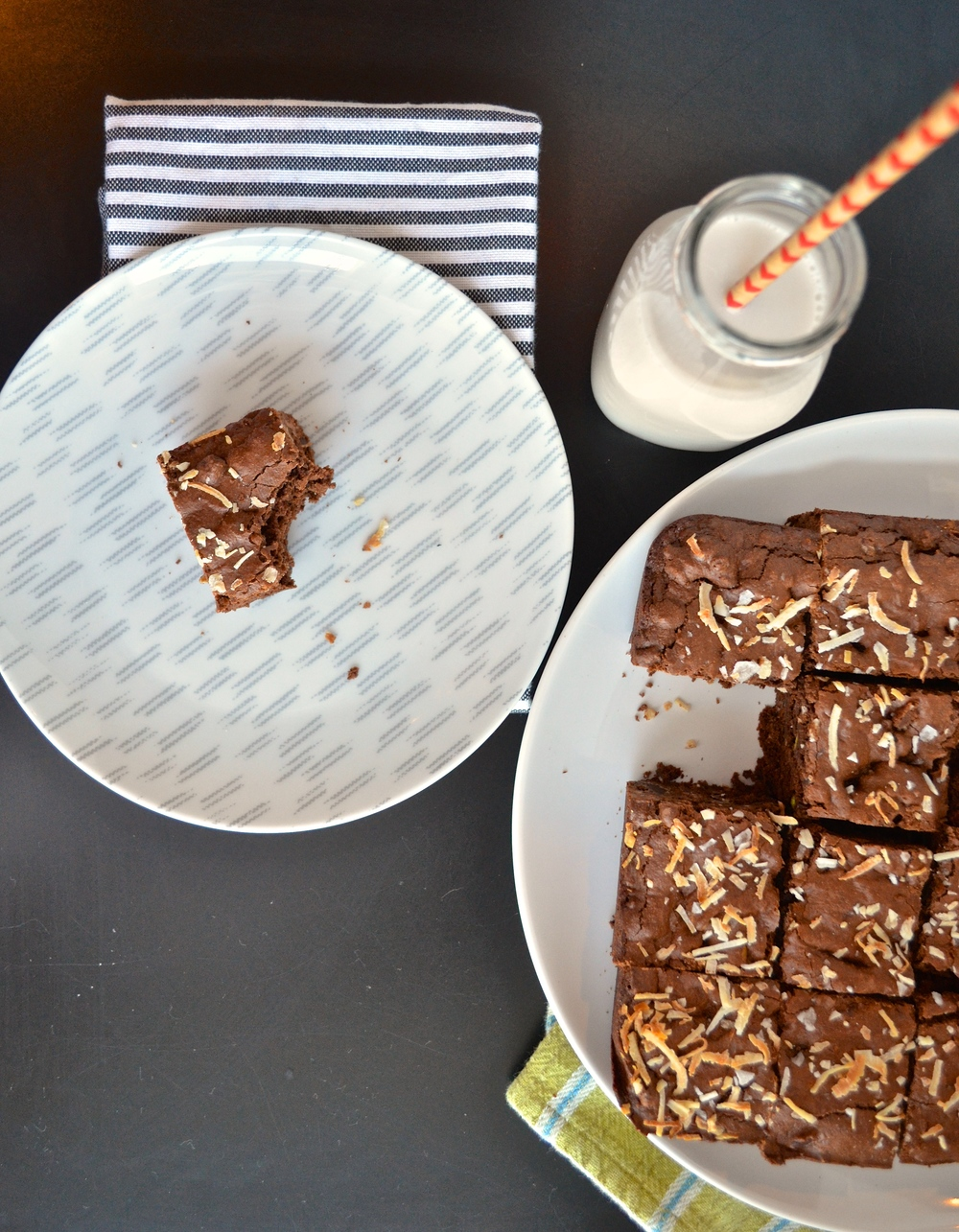 Dairy Free Brownies with Coconut, Pistachio, and Cacao Nibs (Gluten Free) | Pale Yellow