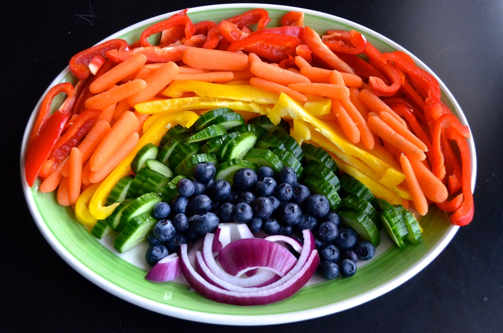 Rainbow Veggies for St. Patrick's Day | Pale Yellow