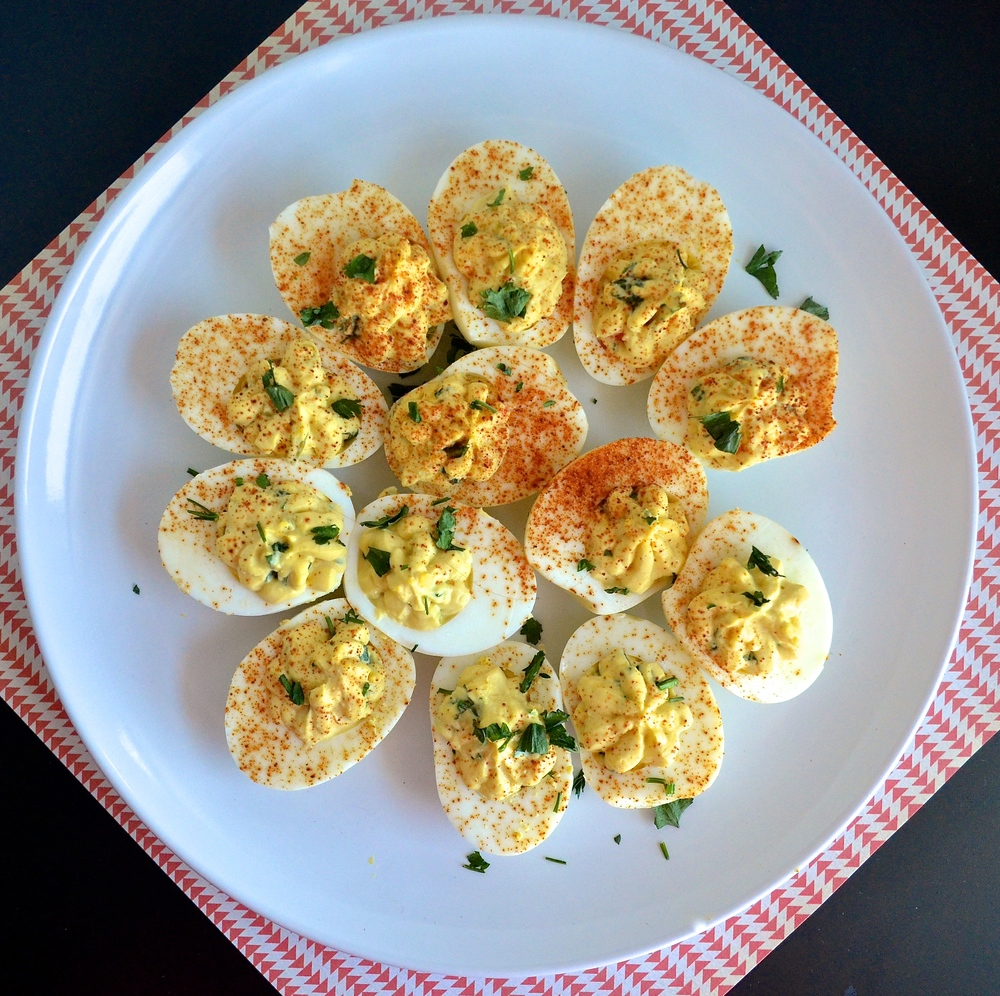 Relish Deviled Eggs | Pale Yellow