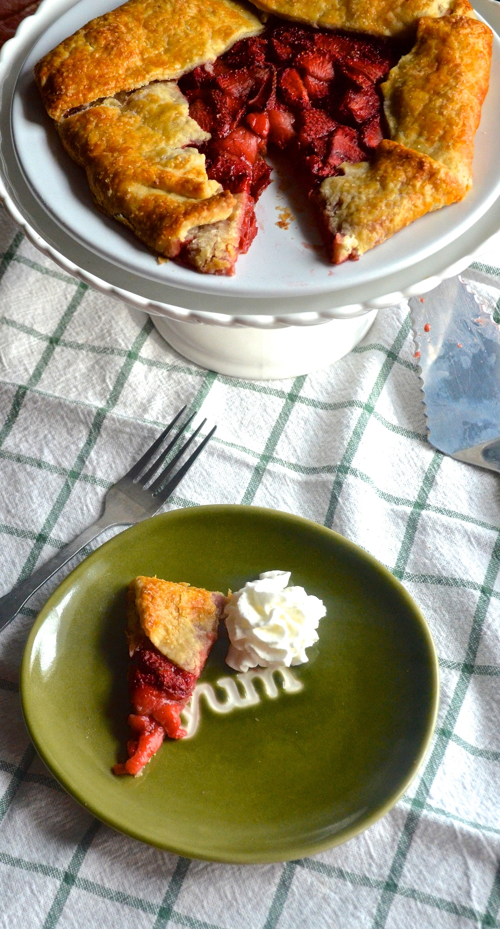 Roasted Strawberry Galette | Pale Yellow