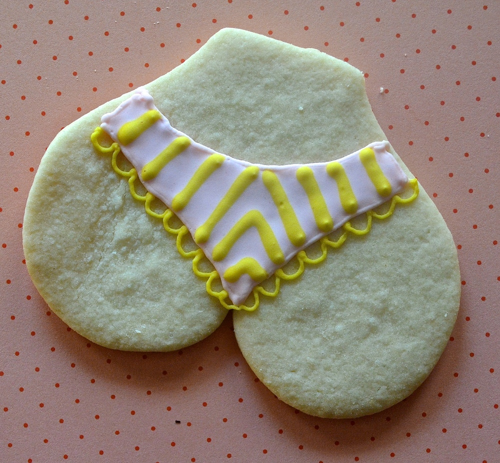 Panty Sugar Cookies (Royal Icing Decorated Sugar Cookies) | Pale Yellow