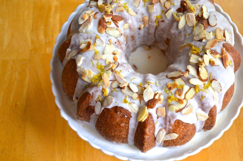 Lemon Almond Bundt Cake   Pale Yellow
