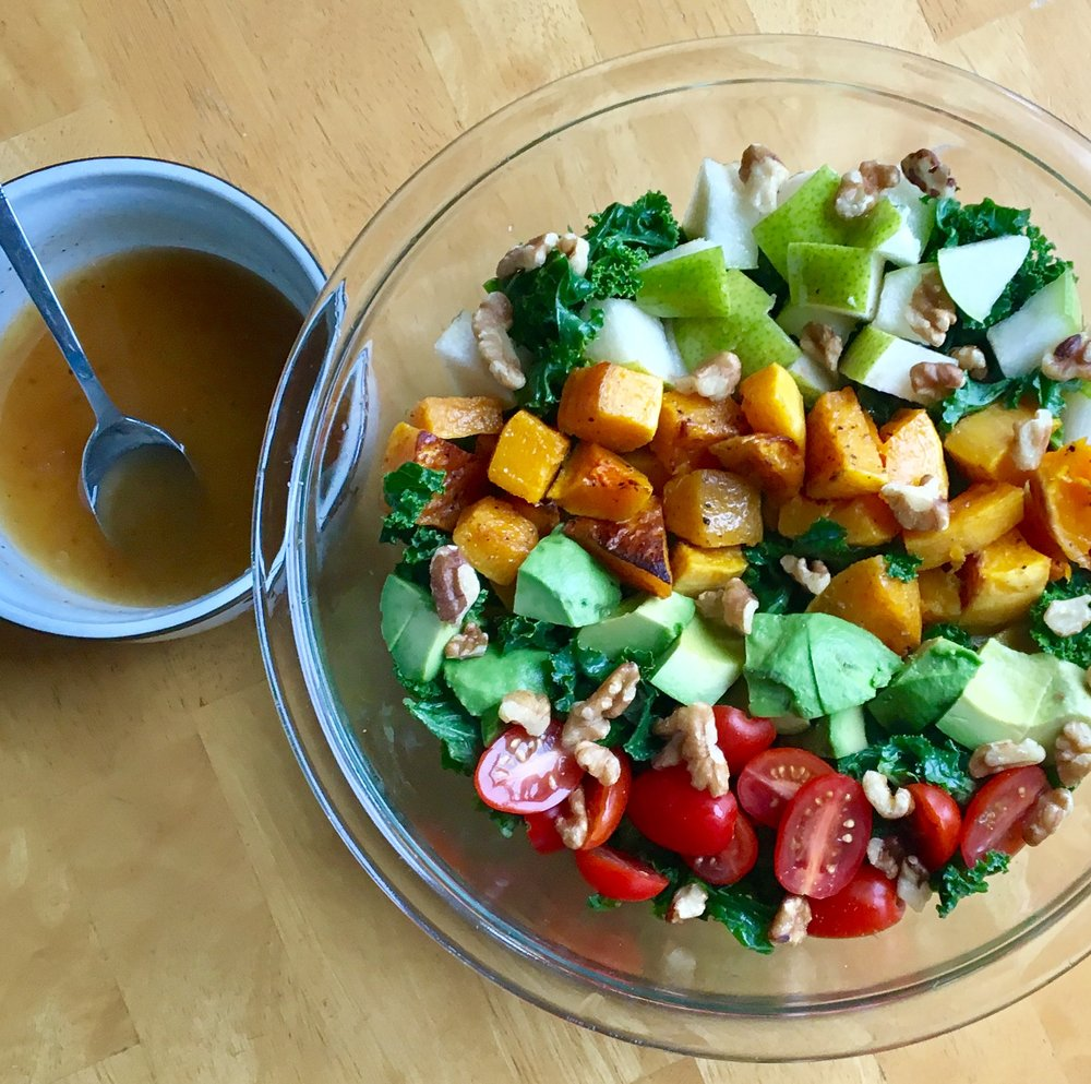 Autumn Kale Salad   Pale Yellow