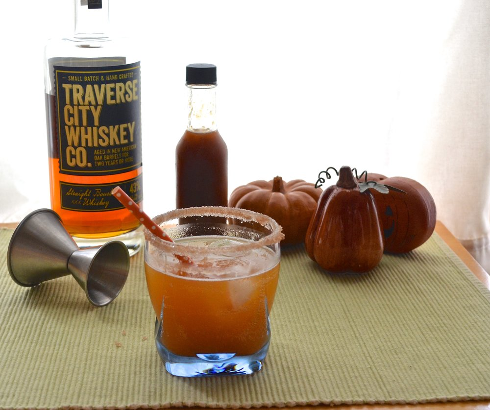 Pumpkin Spice Bourbon Fizz | Pale Yellow